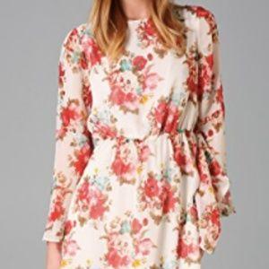 alice + olivia Brenna Bell Sleeve Dress